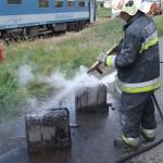 Kigyulladt egy vasúti büfékocsi akkumulátora Szolnokon