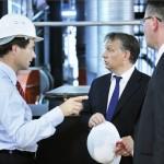 Orbán Viktor avatta fel a Hungrana új biomassza kazánjait