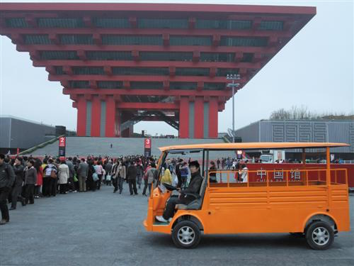 A Dongfeng egy korábbi elektromos modellje a 2010-es sanghaji világkiállításon