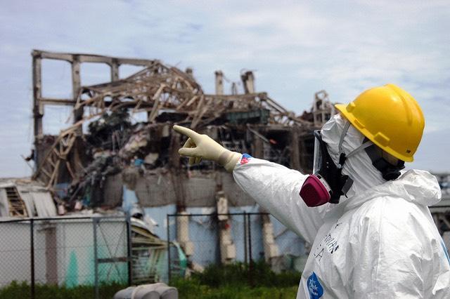 A Fukushimai atomerőmű 3-as egysége a katasztófa után. kép: IAEA Imagebank