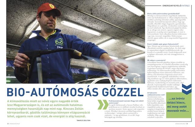 Bio-autómosás gőzzel, Energiafigyelő magazin