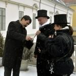 Kéményseprők kívántak boldog új évet az államfőnek és a nemzetnek