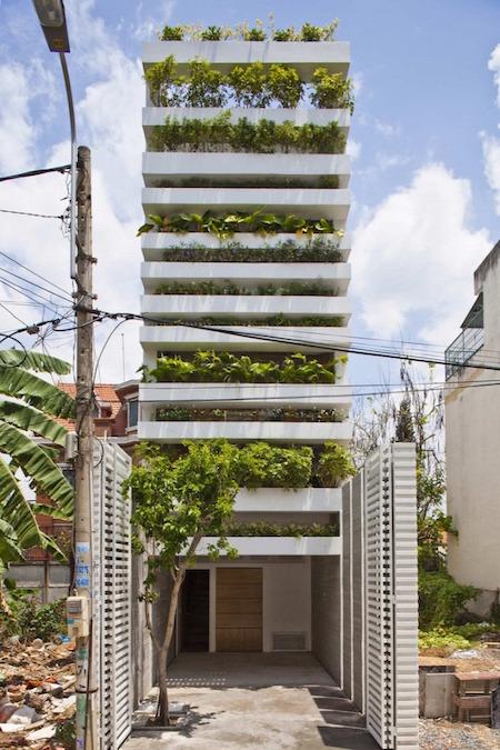 Fenntartható toronyház Vietnam
