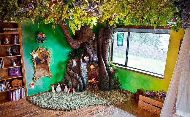 Mesebeli erdő gyerekszoba házilag, csináld magad, diy