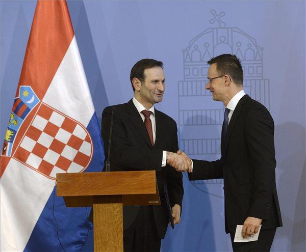 Miro Kovac horvát külügyminiszter és Szijjártó Péter