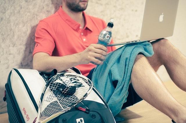 Tenisz sport laptop