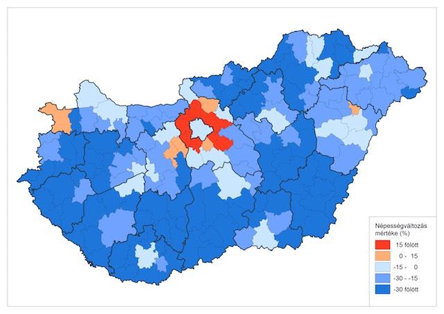 népességváltozás 2011-2051