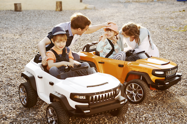 Henes luxusautók gyerekeknek család