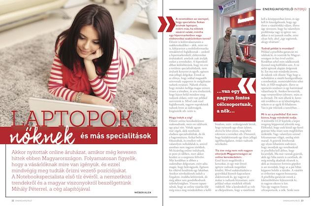 Laptopok nőknek - Energiafigyelő magazin