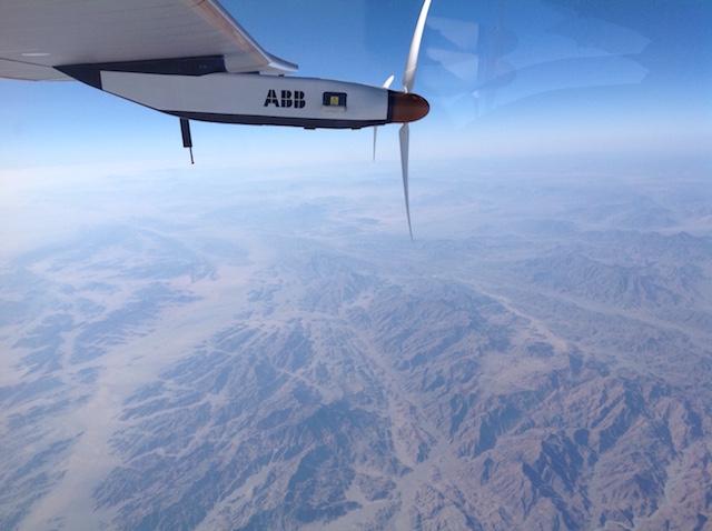 Solar Impulse Szaúd Arábia felett