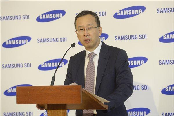 Csang Sze-ung, a Samsung SDI elnöke. MTI Fotó: Soós Lajos