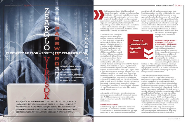 Zsarolóvírusok - Energiafigyelő magazin