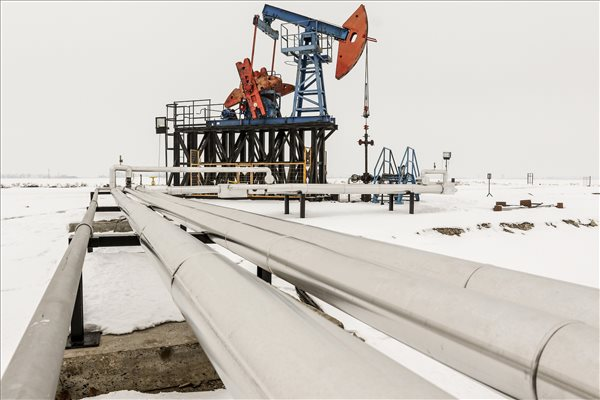 Próbatermelés a himbás szivattyúval telepített Tószeg É-NY 1. olajkúton Tószeg határában 2017. január 31-én. A kőolaj- és földgázkitermelő O&GD Central Kft. a közelmúltban sikeres fúrásokat végzett a megyeszékhelyen és annak külterületén, ahol eddig két olajkutat létesítettek. MTI Fotó: Bugány János