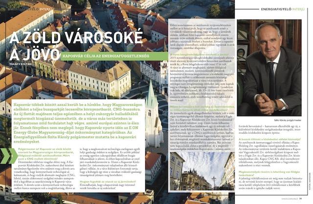 A zöld városoké a jövő Szita Károly