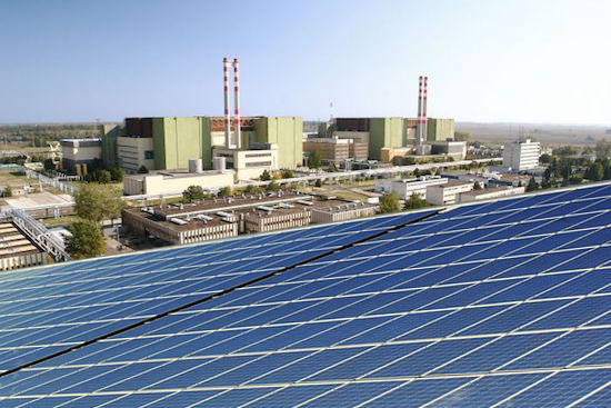 Paksi Atomerőmű napelemek