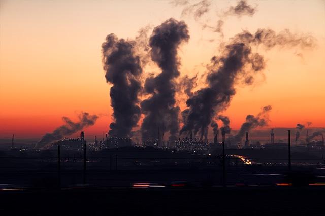 Szmog gyár kémények