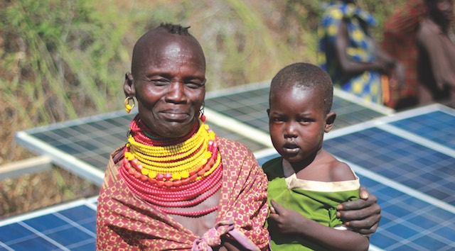 napelem Afrika