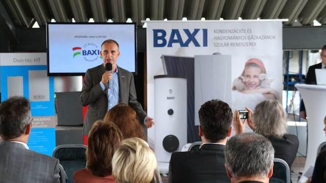 Szilágyi Tamás kereskedelmi és marketing igazgató a BAXI sajtótájékoztatóján. Budapest, 2014 szeptember 11.