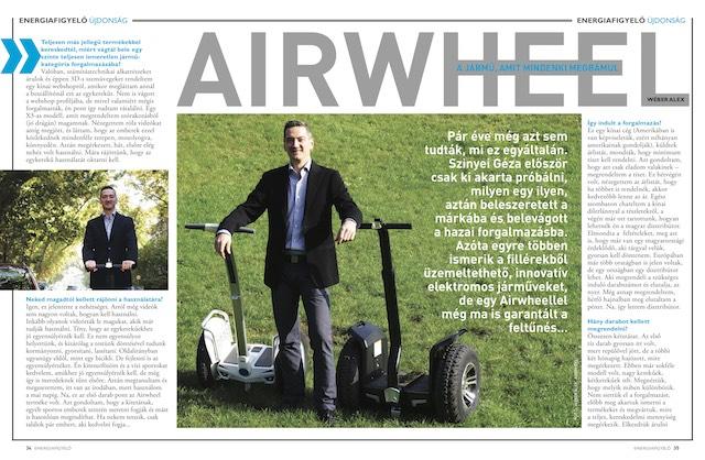 Airwheel - a jármű, amit mindenki megbámul, Energiafigyelő magazin