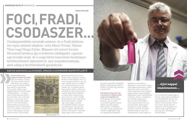 Foci, Fradi, csodaszer Higén+99, Energiafigyelő magazin