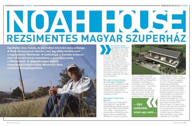 Noah House rezsimentes magyar szuperház Energiafigyelő magazin