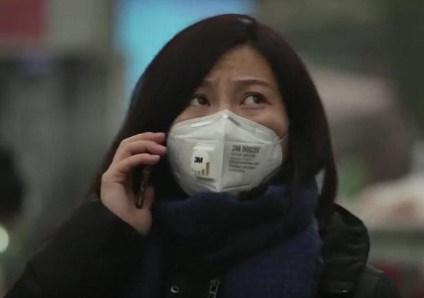 Peking szmog vörös riasztás maszk
