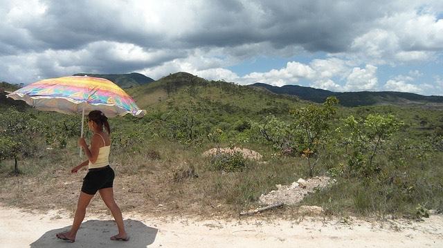 Hőség napernyő kánikula