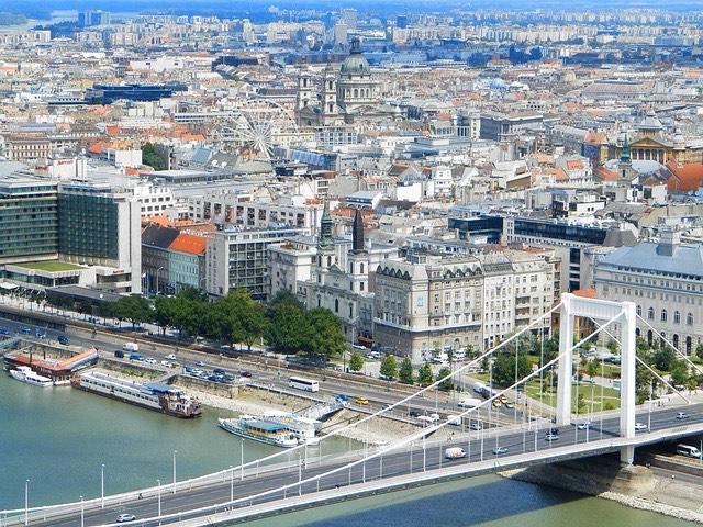 Budapest Duna Erzsébet híd