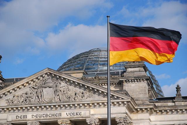Nemetország Berlin zászló Reichstag