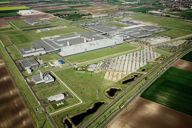 Légifelvétel a kecskeméti Mercedes-Benz Gyárról. kép: Mercedes-Benz