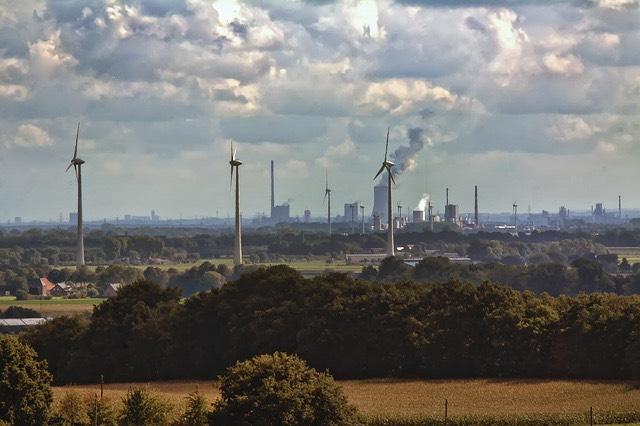 Németország szélerőmű füst kémény