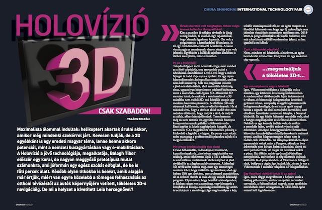 Holovízió 3D - Energiafigyelő magazin