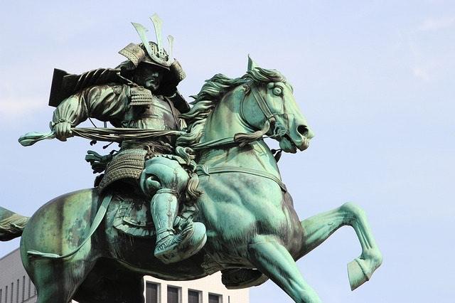 Japán szamuráj szobor
