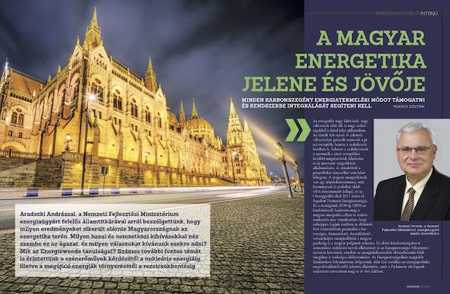 A magyar energetika jelene és jövője Aradszki András Energiafigyelő