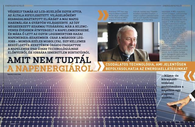 Amit nem tudtál a napenergiáról Véghely Tamás Energiafigyelő