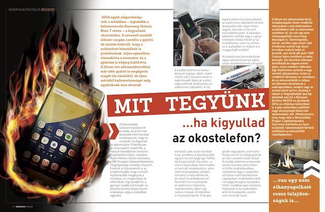 Mit tegyünk ha kigyullad az okostelefon?