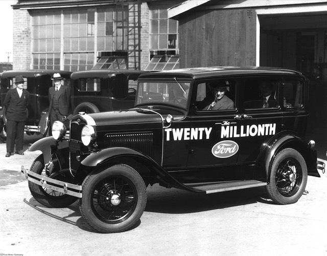 Henry Ford és a húszmilliomodik Model A