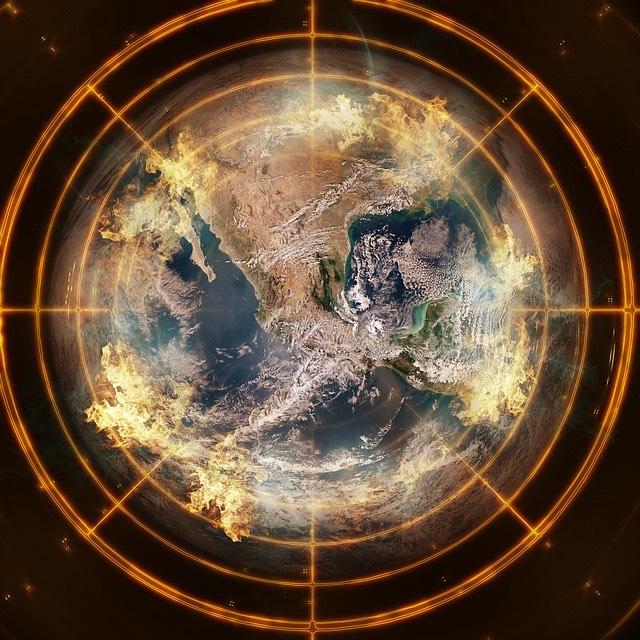 Föld globális felmelegedés célkereszt
