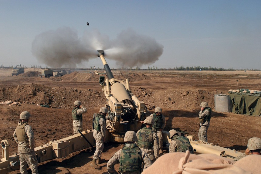 ágyú Irak háború